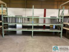 """SECTIONS 34"""" X 96"""" X 9' PALLET RACK WITH STEEL PANEL DECKING, (3) UPRIGHTS AND (12) BEAMS"""