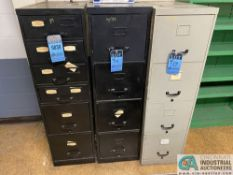 (LOT) ASSORTED HARDWARE IN (3) FILE CABINETS