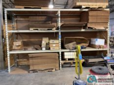 """SECTIONS 36"""" X 96"""" X 10' HIGH PALLET RACK WITH WOOD DECKING, (3) UPRIGHTS AND (12) BEAMS"""