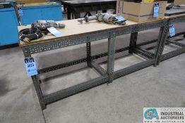 """24"""" X 74"""" X 31"""" HIGH BOLT TOGETHER STEEL FRAME WOOD TOP BENCHES **DELAYED REMOVAL - PICKUP 6-10-"""
