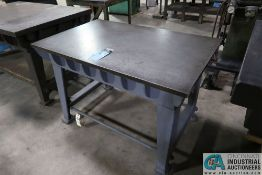 """30"""" X 48"""" X 31-1/2"""" HIGH STAND MOUNTED CAST IRON SURFACE PLATE"""