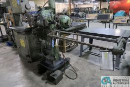 """6"""" LANDIS ROLLER PIPE CUT-OFF MACHINE; S/N N/A, 2 HP MOTOR, FOOT PEDAL CONTROL, 220/440 VOLTS, 3-"""