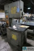 """18"""" GROB MODEL NS-18 VERTICAL BAND SAW; S/N 3177, WITH BAND SAW WELDER"""