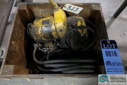 1/2 TON CAPACITY BUDGIT ELECTRIC CHAIN HOIST