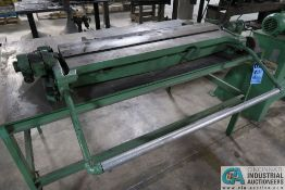 """36"""" PEXTO BENCH MOUNTED LEAF BRAKE WITH STEEL BENCH"""