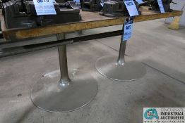 """30"""" X 60"""" X 28"""" HIGH X 1-3/4"""" THICK MAPLE TOP DOUBLE PEDESTAL TABLE **DELAYED REMOVAL - PICKUP 6-"""