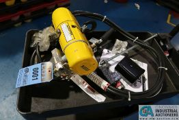 100 LB. BUDGIT PNEUMATIC HOIST WITH CART (NEW)