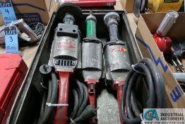 MILWAUKEE HEAVY DUTY STRAIGHT SHAFT ELECTRIC GRINDERS