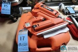 6-VOLT PASLODE MODEL IMCT CORDLESS FRAMING NAIL GUN W/ CHARGER **MISSING CHARGER CORD**