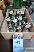 (LOT) STEEL INDICATOR STANDS W/ DIAL GAGES