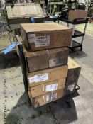 """(LOT) (6) BOXES NEW 1/2"""" PLASTIC STRAPPING"""