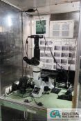 OLYMPUS MODEL GX41 INVERTED METALLURGICAL MICROSCOPE WITH (2) OLYMPUS CAMERAS AND VIEWING MONITOR