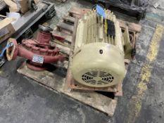 (LOT) 25-HP BALDOR ELECTRIC MOTOR & ARMSTRONG PUMP