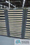 (LOT) 13-DRAWER VIDMAR CABINET WITH CONTENTS INCLUDING MACHINE SCREWS, FLAT HEAD CAP SCREWS,