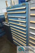(LOT) 13-DRAWER LISTA CABINET WITH CONTENTS INCLUDING MISCELLANEOUS LEYBOLD VACUUM PUMP PARTS (