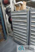 (LOT) 11-DRAWER LISTA CABINET WITH CONTENTS INCLUDING METRIC NUTS, WASHERS, MACHINE SCREWS, AND