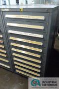 (LOT) 11-DRAWER VIDMAR CABINET WITH CONTENTS INCLUDING MISCELLANEOUS GAS FILL PART, FILTERS,