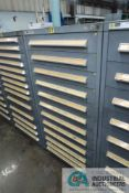 12-DRAWER VIDMAR CABINET WITH CONTENTS INCLUDING MISCELLANEOUS CYLINDERS AND CYLINDER PARTS (CABINET