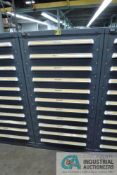 11-DRAWER VIDMAR CABINET WITH CONTENTS INCLUDING MISCELLANEOUS BASING ELECTRICAL, O-RINGS,
