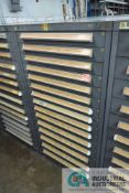 15-DRAWER LISTA CABINET WITH CONTENTS INCLUDING MISCELLANEOUS BUSHING AND FLANGES (CABINET LI)