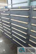 8-DRAWER LISTA CABINET WITH CONTENTS INCLUDING MISCELLANEOUS PLUMBING PARTS, TEES, ELBOWS,