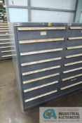 8-DRAWER LISTA CABINET WITH CONTENTS INCLUDING MISCELLANEOUS PLUMBING PARTS, ELBOWS, TEES,