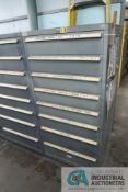 8-DRAWER LISTA CABINET WITH CONTENTS INCLUDING MISCELLANEOUS PLUMBING PARTS, ELBOWS, TEES, VALVES (