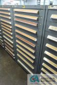 (LOT) 11-DRAWER VIDMAR CABINET WITH CONTENTS INCLUDING MISCELLANEOUS MICRO SWITCHES, BOX CONVEYOR
