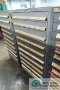 (LOT) 11-DRAWER LISTA CABINET WITH CONTENTS INCLUDING MISCELLANEOUS METRIC O-RINGS AND RETAINING