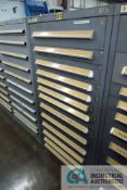 (LOT) 13-DRAWER VIDMAR CABINET WITH CONTENTS INCLUDING MISCELLANEOUS BASE PREFILL PARTS (CABINET