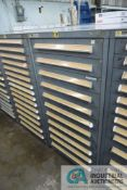 11-DRAWER LISTA CABINET WITH CONTENTS INCLUDING MISCELLANEOUS PNEUMATIC GAS VALVES (CABINET LH)