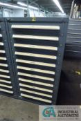 11-DRAWER VIDMAR CABINET WITH CONTENTS INCLUDING MISCELLANEOUS BASING PARTS (CABINET PG)