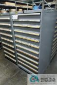 11-DRAWER LISTA CABINET WITH CONTENTS INCLUDING MISCELLANEOUS SKID UNLOADER PARTS (CABINET WM)