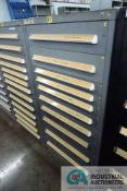(LOT) 10-DRAWER VIDMAR CABINET WITH CONTENTS INCLUDING MISCELLANEOUS VISION SYSTEM PARTS AND