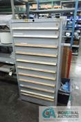 11-DRAWER LISTA CABINET WITH CONTENTS INCLUDING MISCELLANEOUS PARTS FOR SANDBLASTER, DRY ICE