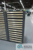 (LOT) 13-DRAWER VIDMAR CABINET WITH CONTENTS INCLUDING EYE BOLTS, GREASE FITTINGS, CABLE CLAMPS, SET