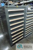 9-DRAWER VIDMAR CABINET WITH CONTENTS INCLUDING MISCELLANEOUS SIEMENS AND MITSUBISHI MODULES,
