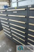 8-DRAWER LISTA CABINET WITH CONTENTS INCLUDING PLUMBING PARTS, TEES, ELBOWS, CAPS, COUPLINGS,