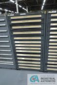 (LOT) 13-DRAWER VIDMAR CABINET WITH CONTENTS INCLUDING WING NUTS, HEX NUTS, LOCK WASHERS (CABINET