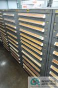 (LOT) 13-DRAWER VIDMAR CABINET WITH CONTENTS INCLUDING MISCELLANEOUS GAUGES, THERMOMETERS AND MAC