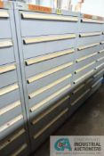 8-DRAWER LISTA CABINET WITH CONTENTS INCLUDING MISCELLANEOUS OR WATER SYSTEM PARTS, VALVES,