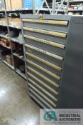 11-DRAWER LISTA CABINET WITH CONTENTS INCLUDING MISCELLANEOUS END OF LINE BUFFER PARTS, LABEL