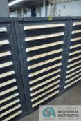 11-DRAWER VIDMAR CABINET WITH CONTENTS INCLUDING MISCELLANEOUS BASING BEARINGS, FITTINGS,