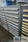 (LOT) 11-DRAWER LISTA CABINET WITH CONTENTS INCLUDING MISCELLANEOUS FLEXCO BELT PARTS (CABINET NH)