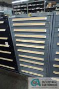 (LOT) 11-DRAWER VIDMAR CABINET WITH CONTENTS INCLUDING MISCELLANEOUS FLOW METERS, MIXER PARTS,