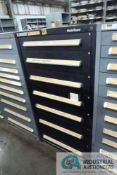 (LOT) 7-DRAWER VIDMAR CABINET WITH CONTENTS INCLUDING MISCELLANEOUS ENCODERS AND CIRCUIT BOARDS (