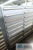 8-DRAWER LISTA CABINET WITH CONTENTS INCLUDING MISCELLANEOUS HORTON AIR CLUTCH PARTS (CABINET OD)