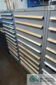 (LOT) 10-DRAWER LISTA CABINET WITH CONTENTS INCLUDING MISCELLANEOUS LEYBOLD VACUUM PUMP PARTS (