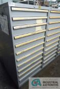 11-DRAWER LISTA CABINET WITH CONTENTS INCLUDING MISCELLANEOUS SEALS, BURNER PARTS, END FORMERS,