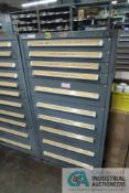 (LOT) 10-DRAWER VIDMAR CABINET WITH CONTENTS INCLUDING MISCELLANEOUS SPRAY PARTS, NOZZLES,